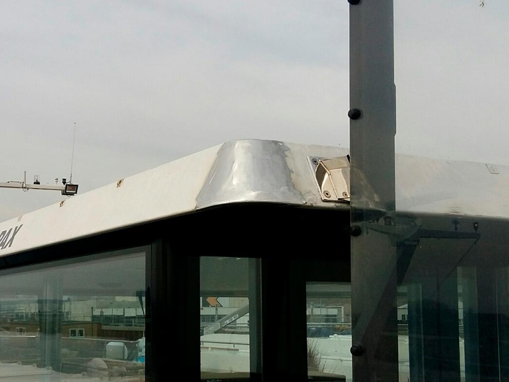 Reparatie aluminium dakrand stuurhuis - Scheeps reparatie en onderhoud - Lasbedrijf De Wildt - Wijchen Nijmegen