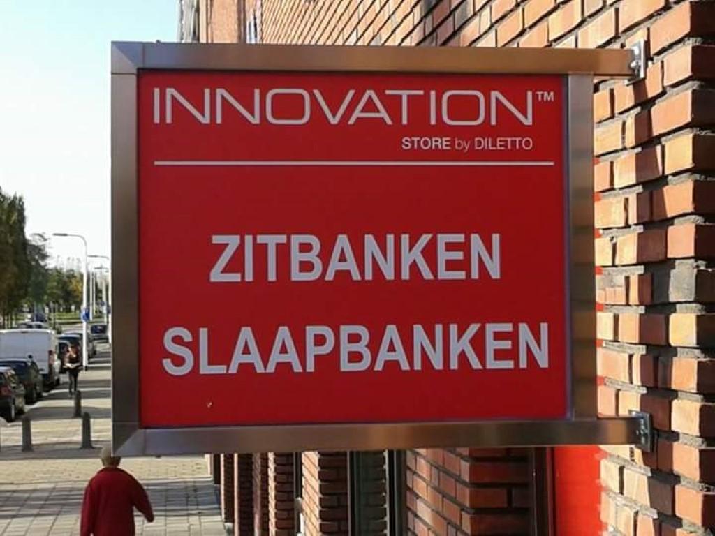 RVS reclamebord - Interieur - Lasbedrijf De Wildt - Wijchen Nijmegen